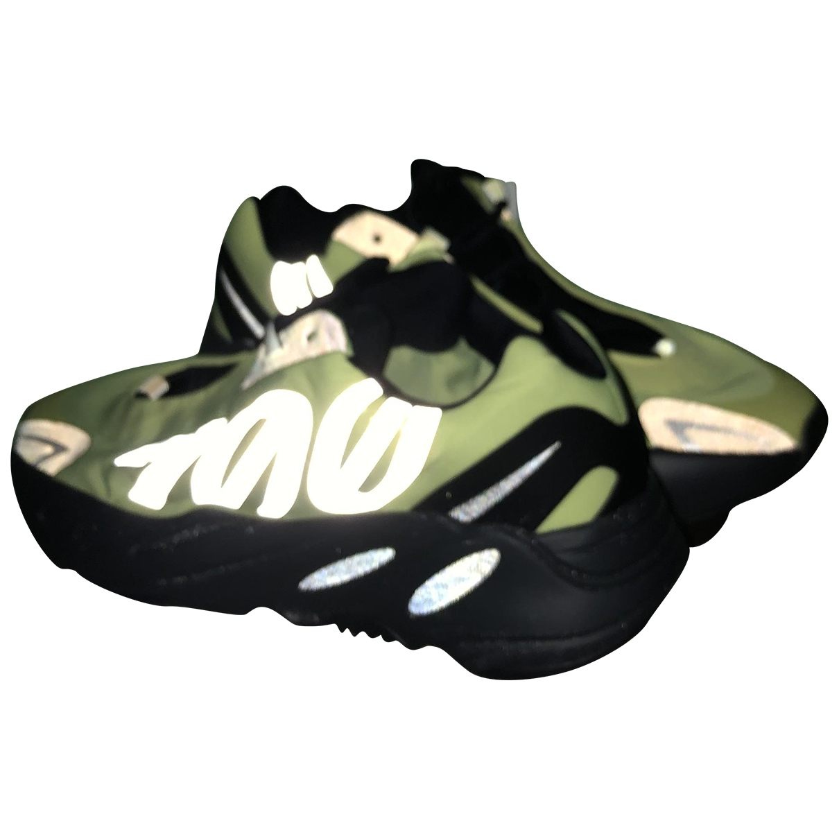 Yeezy X Adidas - Baskets   pour homme en toile - vert
