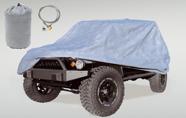 Rugged Ridge 13321.73 Car Cover Kit, Full; 81-86 Jeep CJ8/04-18 LJ/07-18 JK Jeep