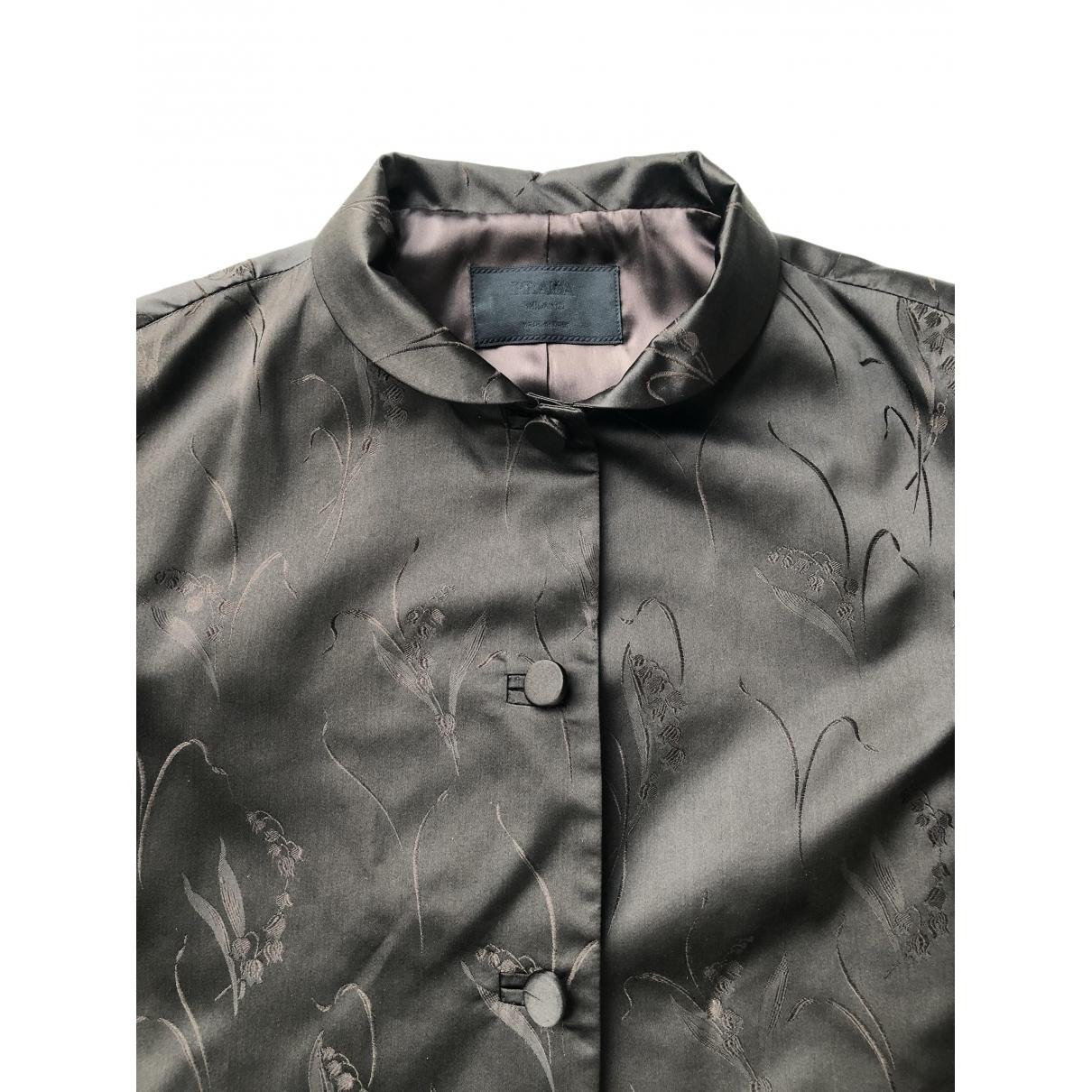 Prada \N Brown Silk jacket for Women 44 IT
