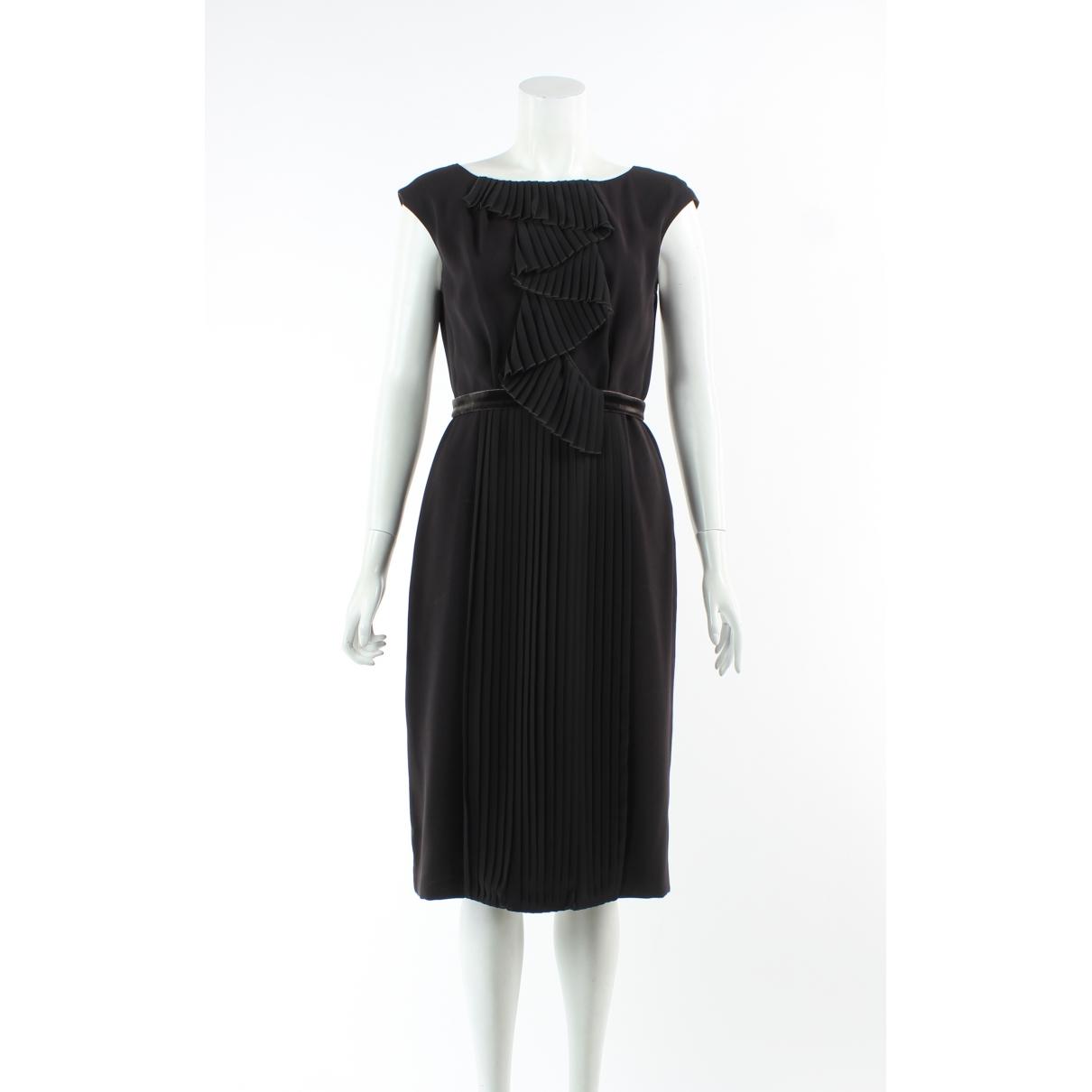 Max Mara \N Kleid in  Braun Leder