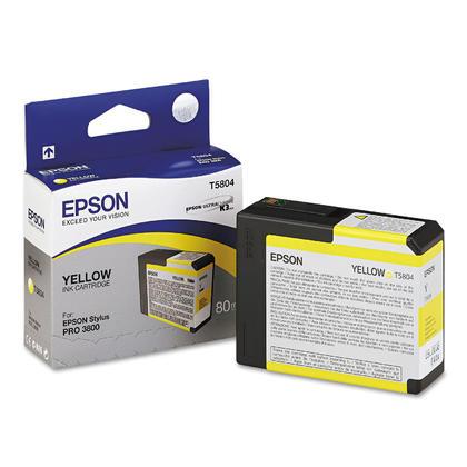 Epson T580400 cartouche d'encre UltraChrome originale jaune pour l'imprimante Stylus Pro 3800