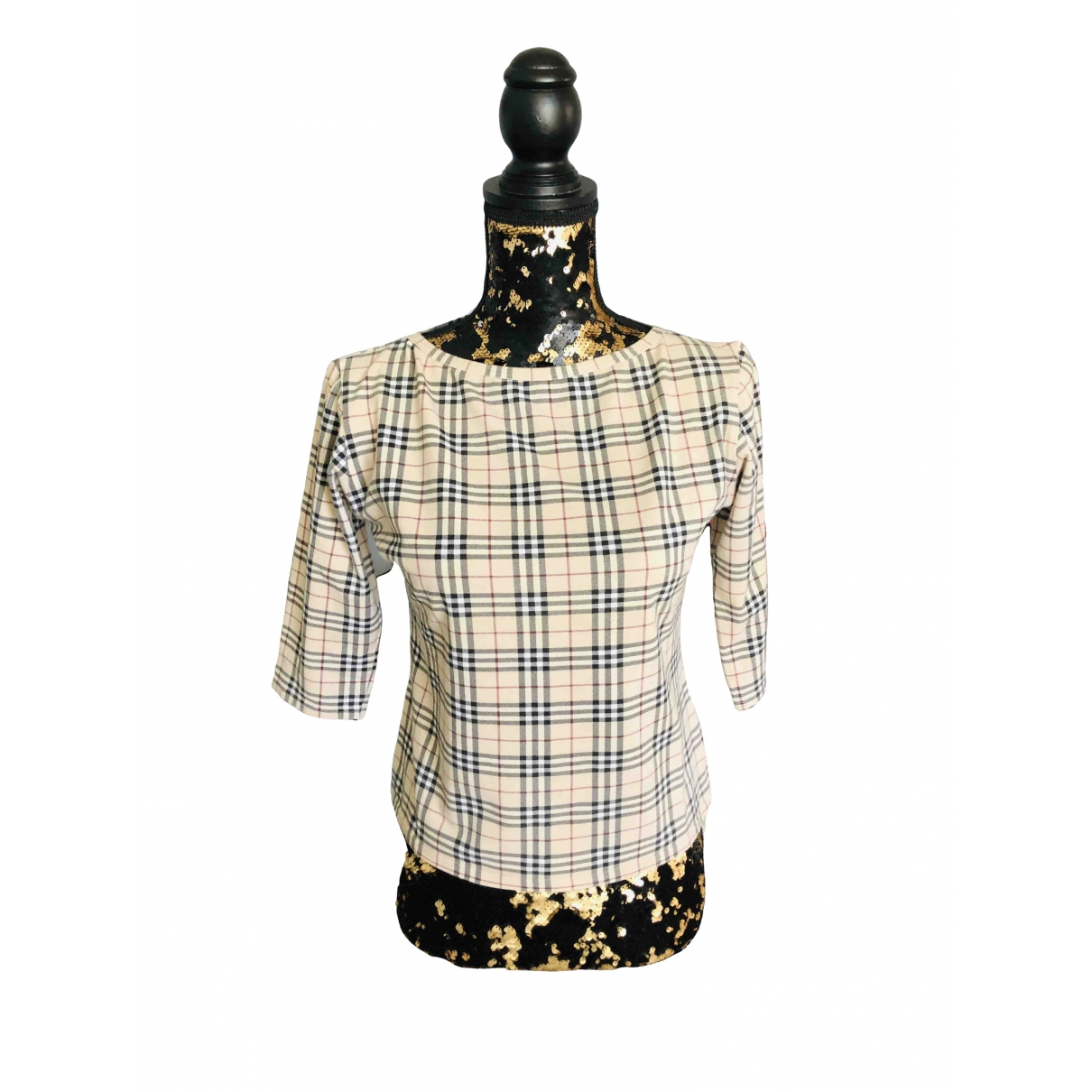 Burberry \N Beige Cotton  top for Women 38 IT