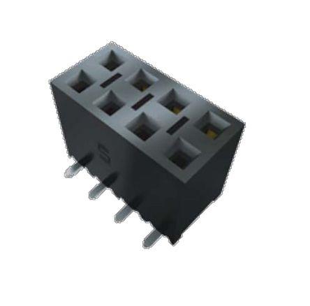 Samtec , SSM 2.54mm Pitch 10 Way 1 Row Straight PCB Socket, Surface Mount, SMT Termination (44)