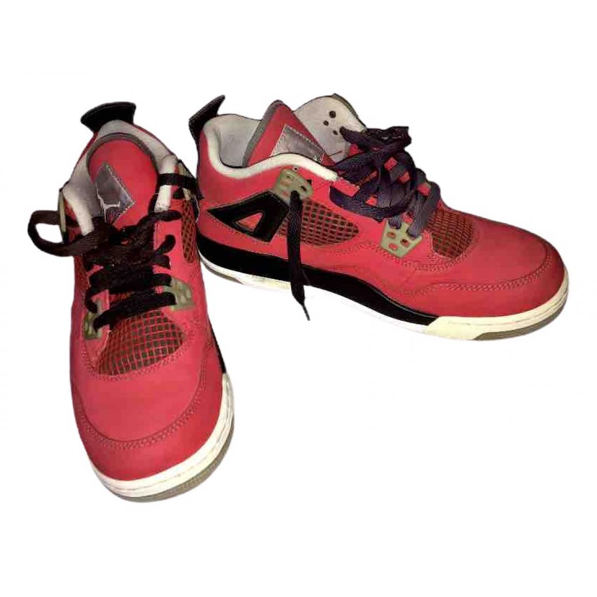Jordan - Baskets Air Jordan 4 pour femme en caoutchouc - rouge