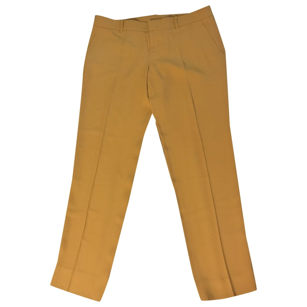 Gucci \N Yellow Trousers for Women 44 IT