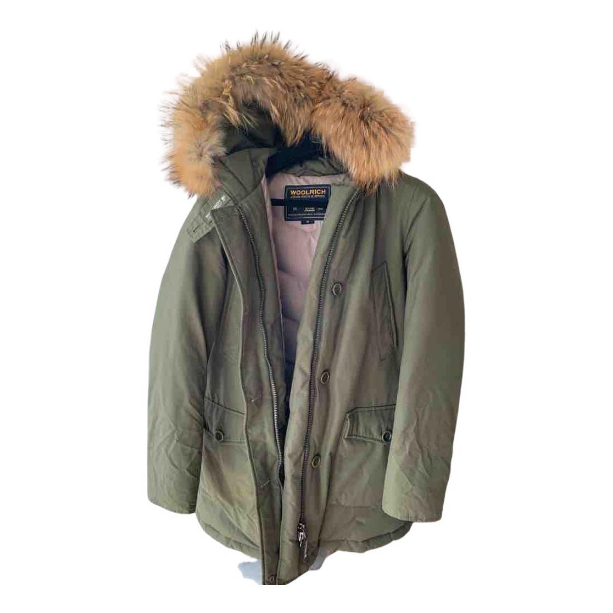 Woolrich - Manteau   pour femme en coton - kaki