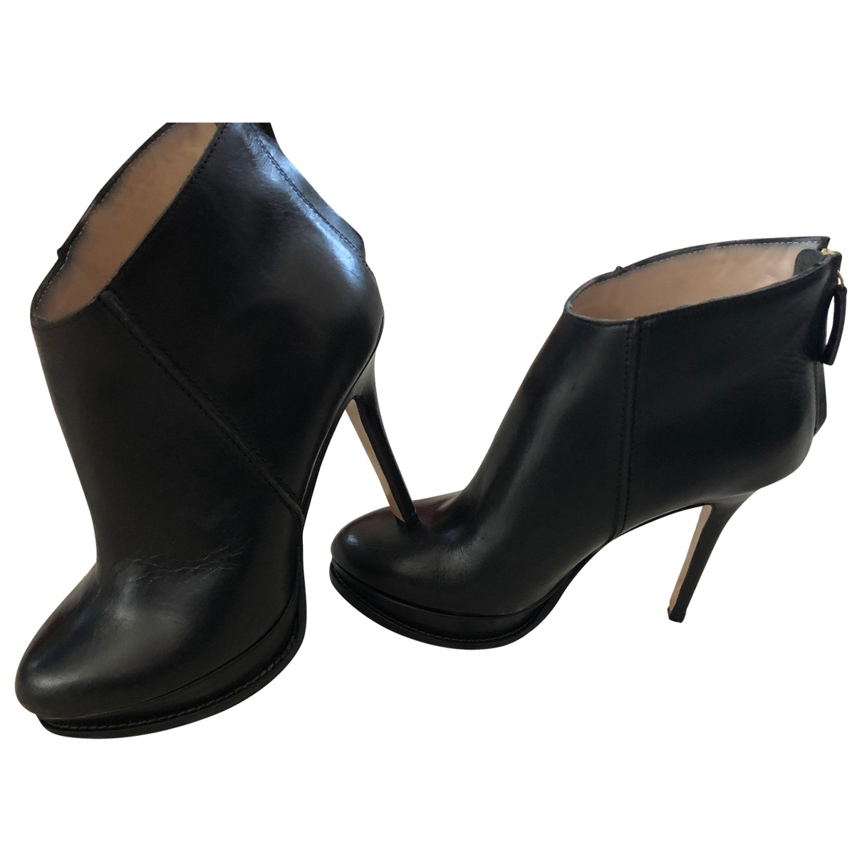 Max & Co \N Black Leather Ankle boots for Women 37 EU