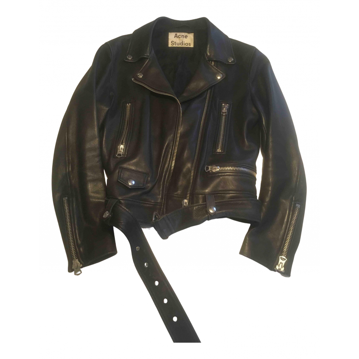 Acne Studios N Black Leather jacket for Women 38 FR