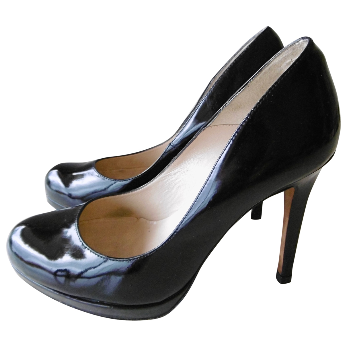Lk Bennett \N Pumps in  Schwarz Lackleder