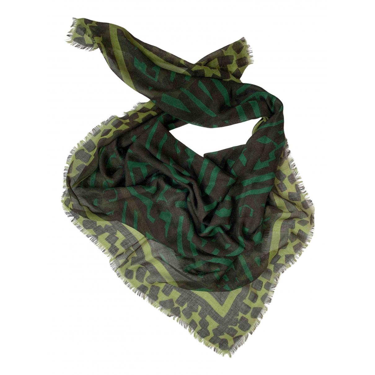 Burberry - Foulard   pour femme en laine - vert