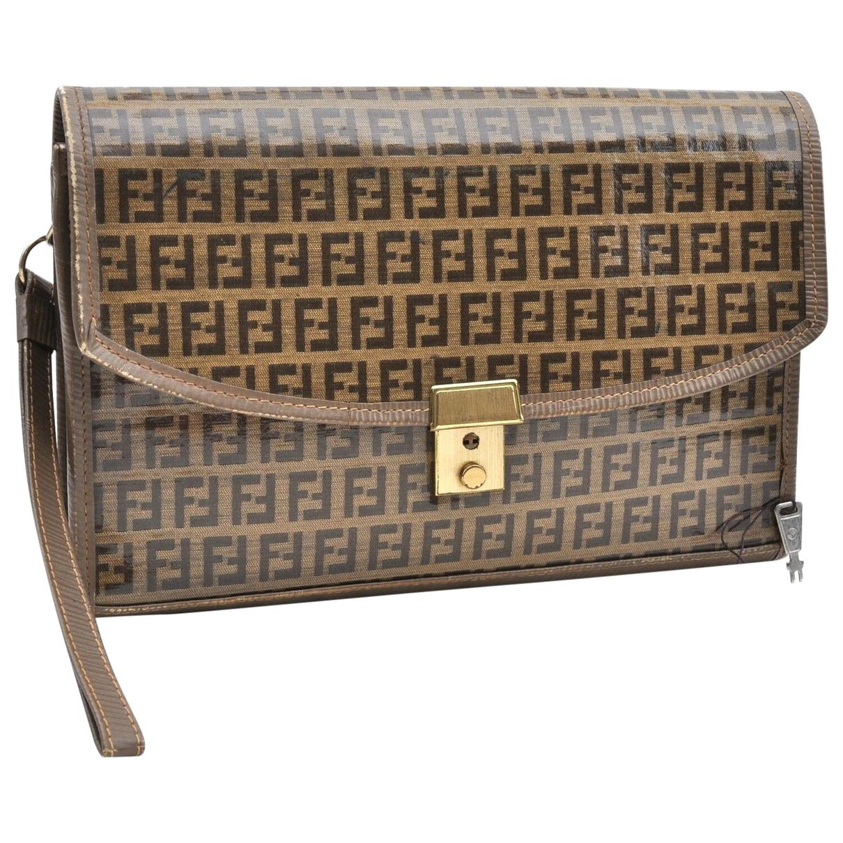 Fendi N Brown Cloth Clutch bag for Women N