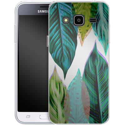 Samsung Galaxy J3 (2016) Silikon Handyhuelle - Green Leaves von Mareike Bohmer