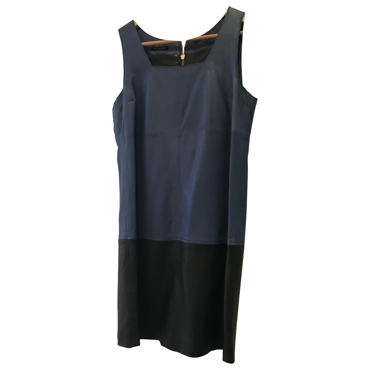 Massimo Dutti \N Blue Leather dress for Women 36 FR