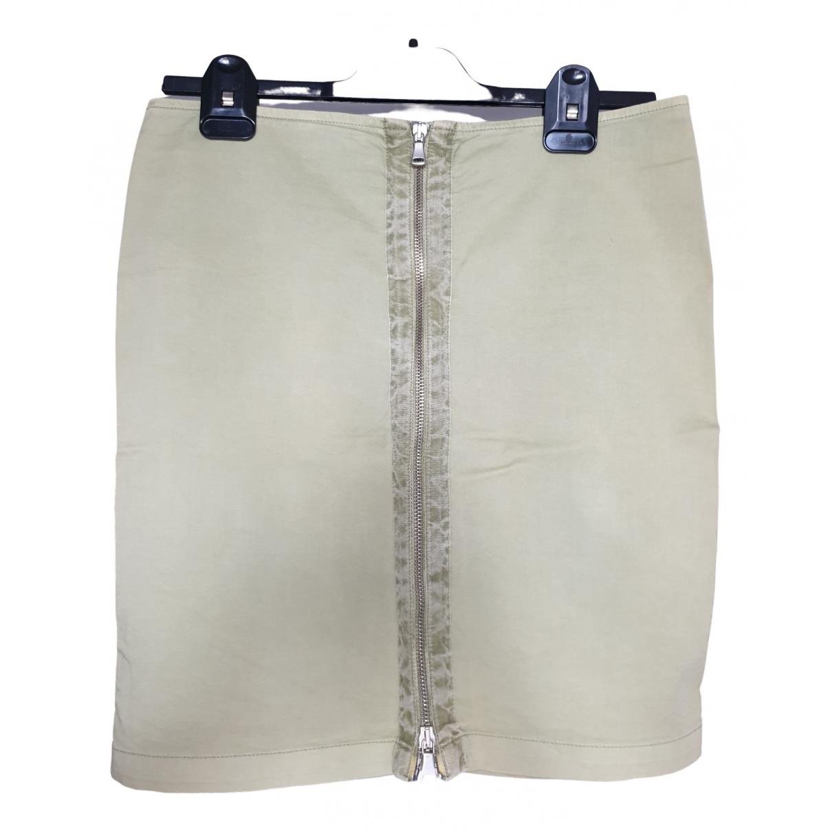 Armani Jeans \N Rocke in  Gruen Baumwolle - Elasthan