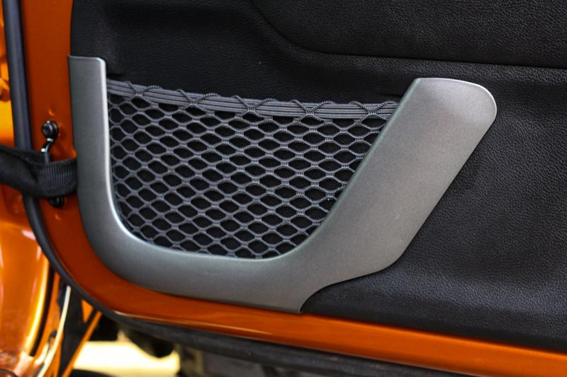 Front Charcoal Door Net Trim for 2011-2018 Wrangler JK by Rugged Ridge 11157.21 Jeep Wrangler 2011-2018