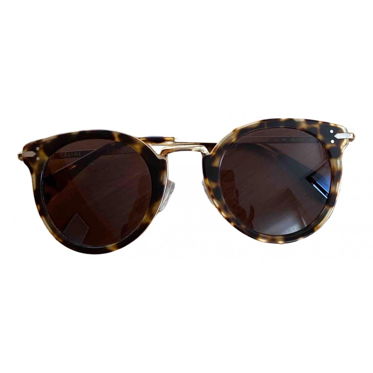 Celine \N Brown Metal Sunglasses for Women \N