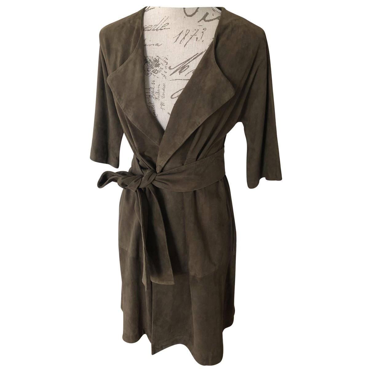 Ba&sh - Manteau   pour femme en cuir - marron