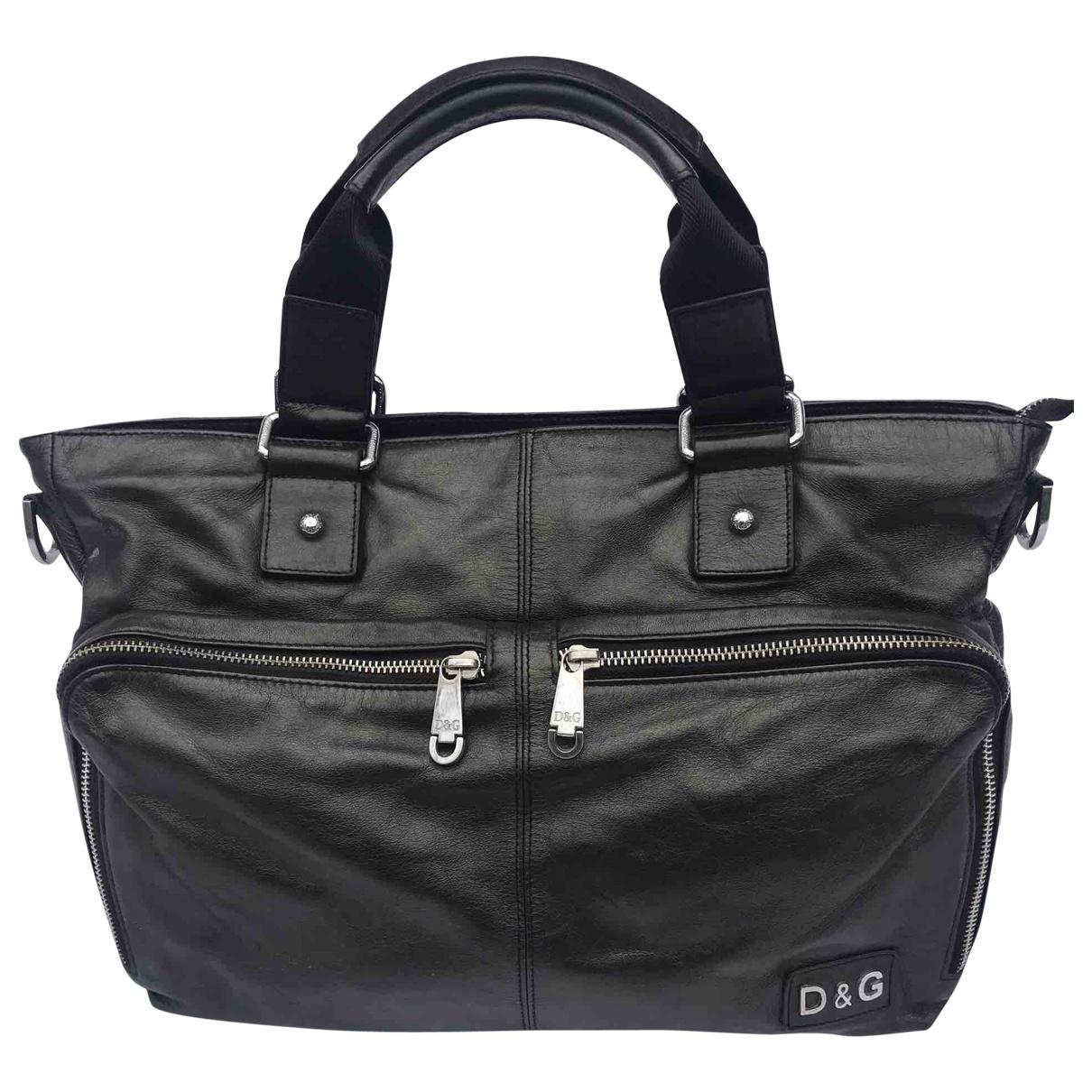 D&g \N Black Leather bag for Men \N