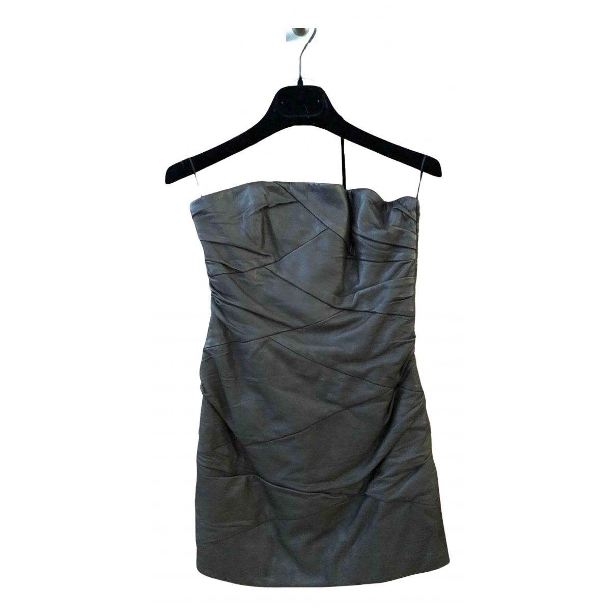 Jay Ahr - Robe   pour femme en cuir - marron
