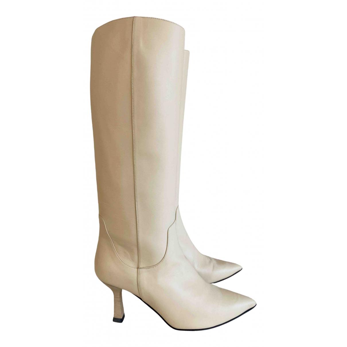 Dear Frances - Bottes   pour femme en cuir - beige