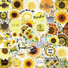 50pcs Sunflower Print Sticker