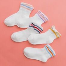 5 Paare Kleinkind Maedchen Socken mit Streifen