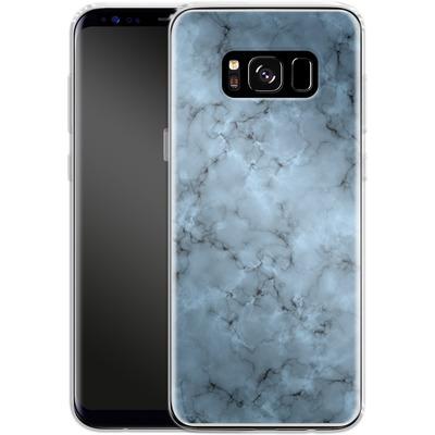 Samsung Galaxy S8 Silikon Handyhuelle - Blue Marble von caseable Designs