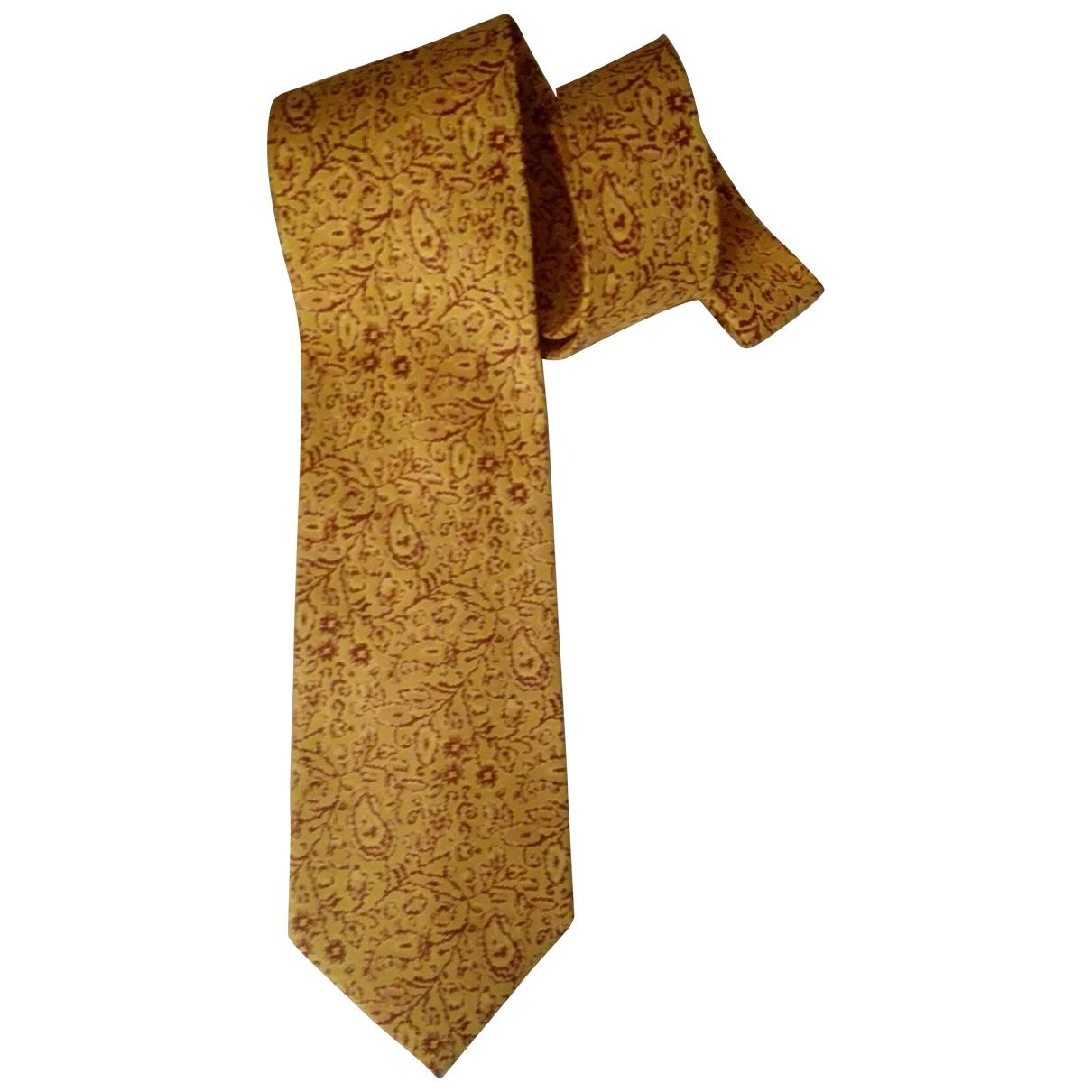 Etro - Cravates   pour homme en soie - jaune