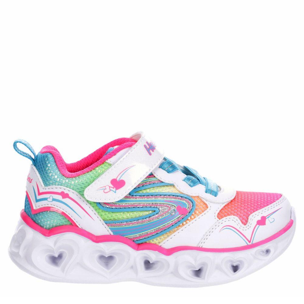 Skechers Kids Girls S Lights Heart - Love Spark 20294N Wmlt Shoes Sneakers