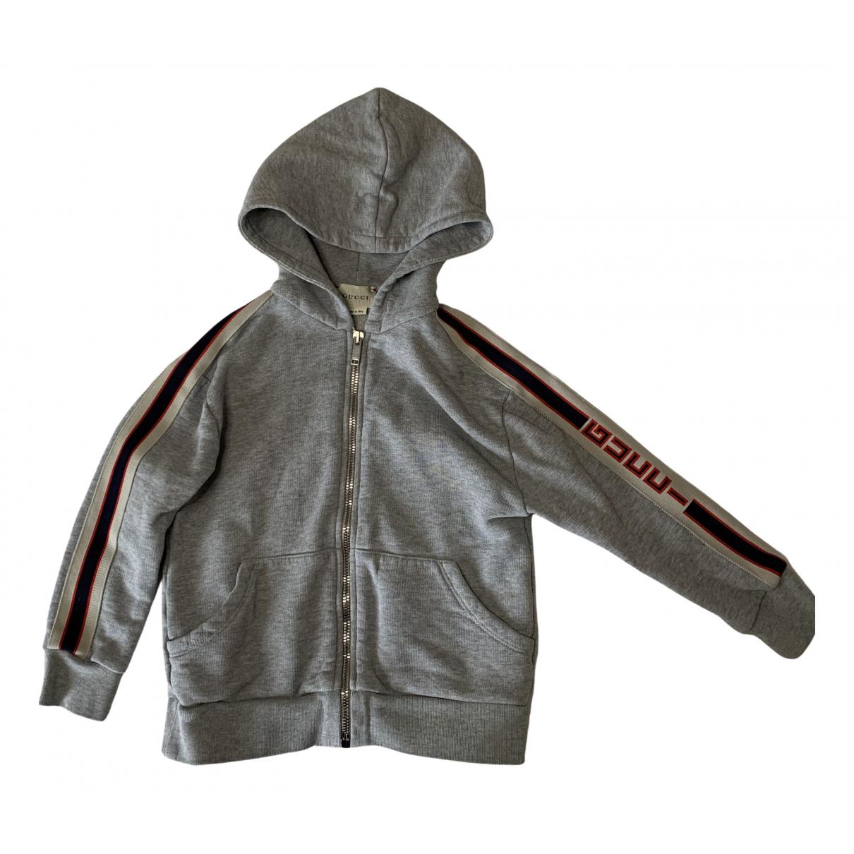 Gucci - Pull   pour enfant en coton - gris