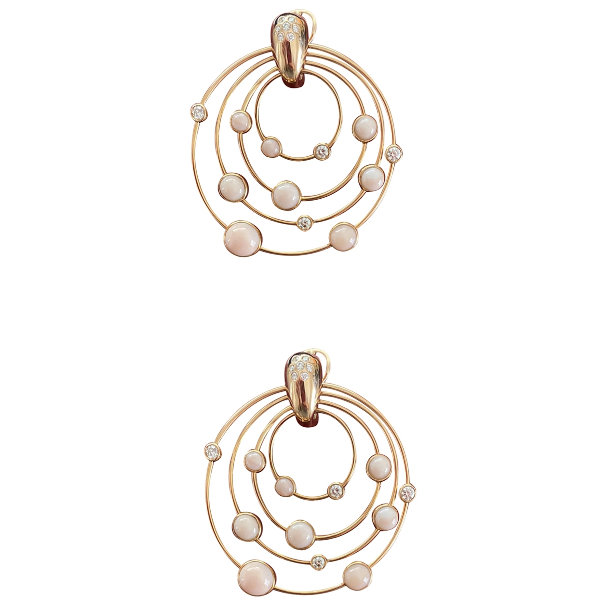 Non Signé / Unsigned Nacre Gold Pink gold Earrings for Women \N