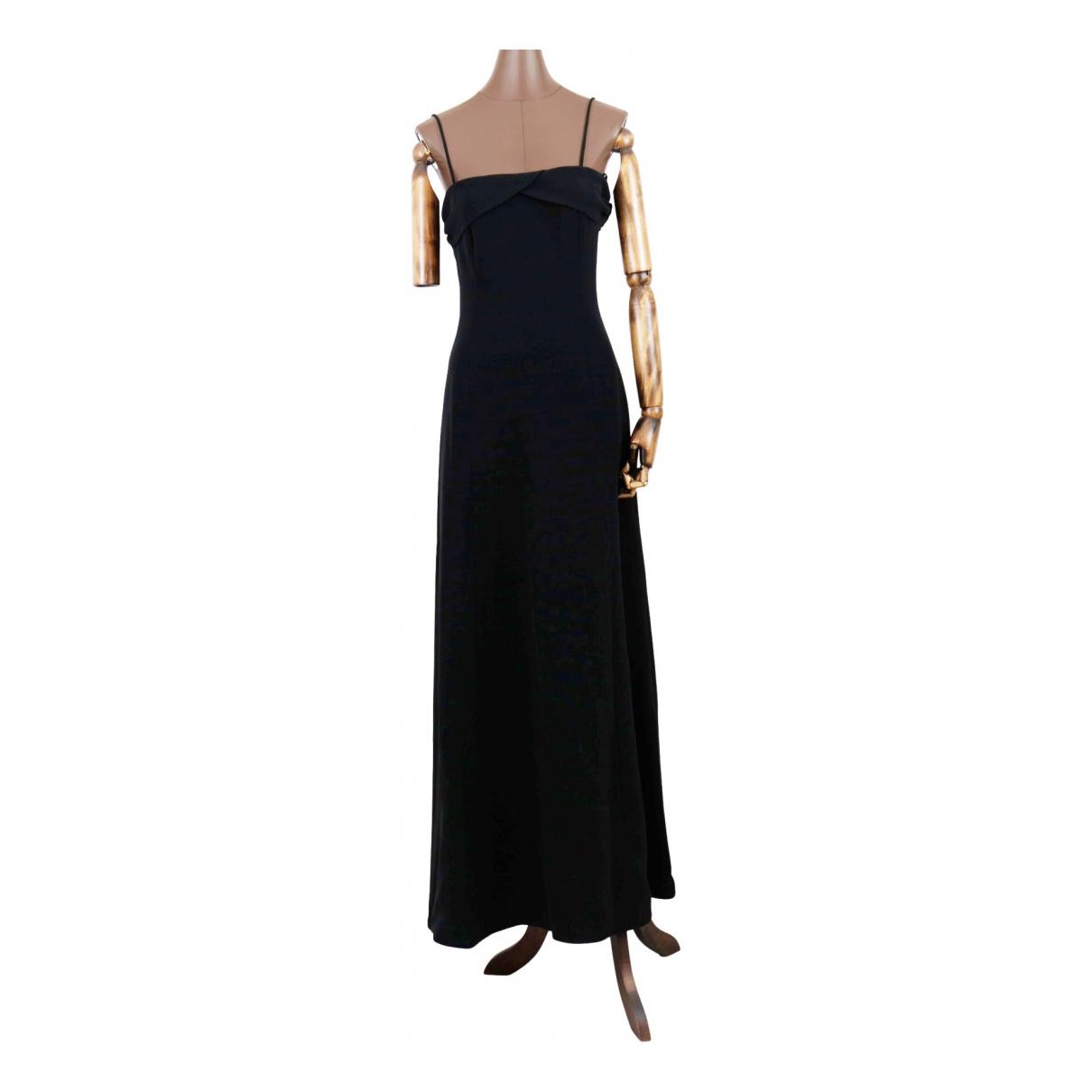 Giorgio Armani \N Kleid in  Schwarz Seide