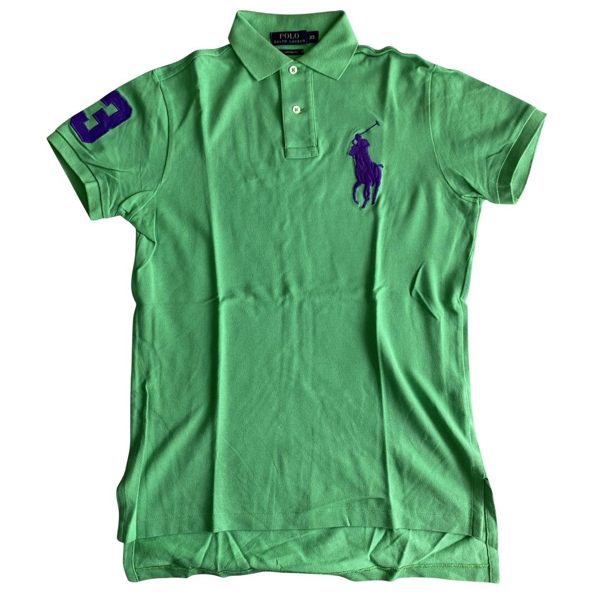 Polo Ralph Lauren - Polos Polo ajuste manches courtes pour homme en coton - vert