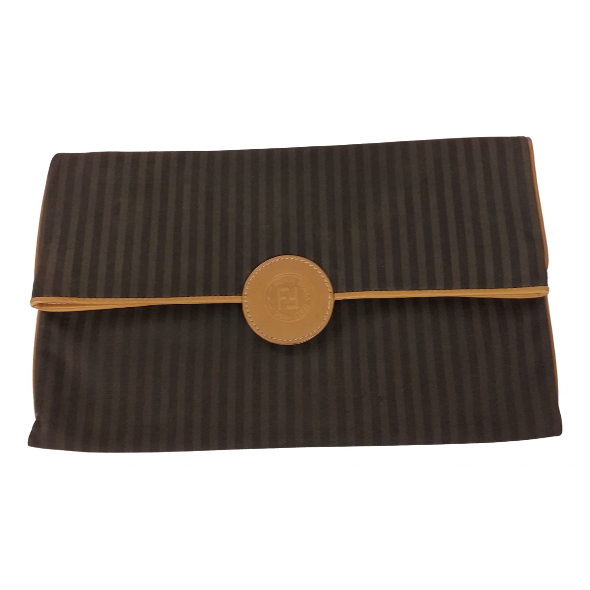 Fendi \N Beige Cloth Clutch bag for Women \N