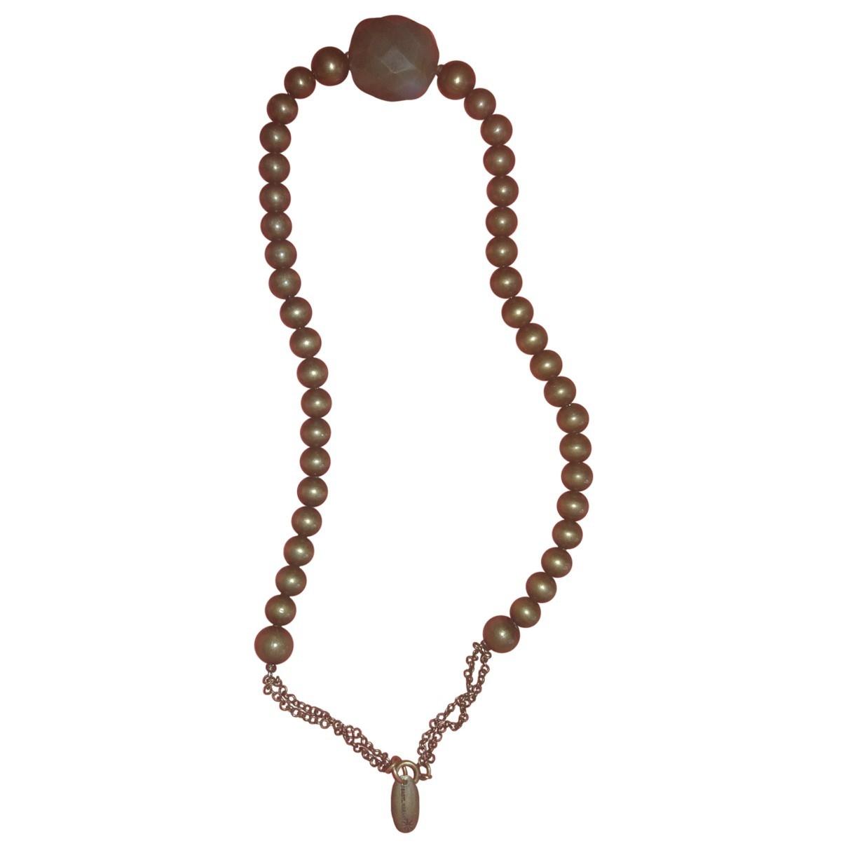 Isabel Marant - Collier   pour femme en perle - kaki