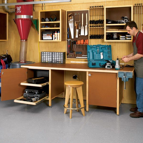 Woodworking Project Paper Plan to Build Tough-Stuff Workbench