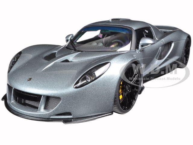 Hennessey Venom GT Silver 1/18 Diecast Model Car by Autoart