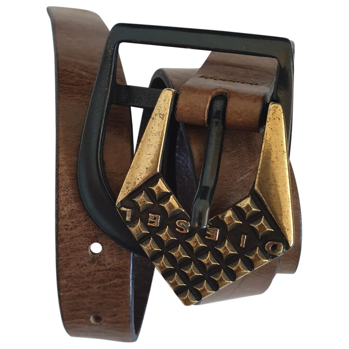 Diesel \N Brown Leather belt for Women 90 cm