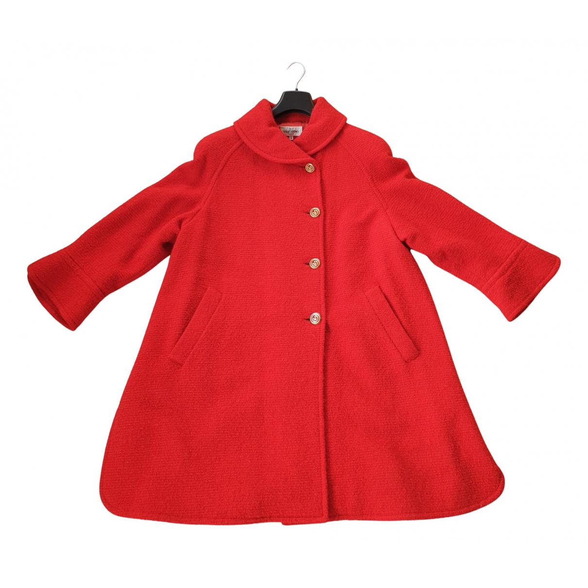 Valentino Garavani N Red Wool coat for Women 44 IT