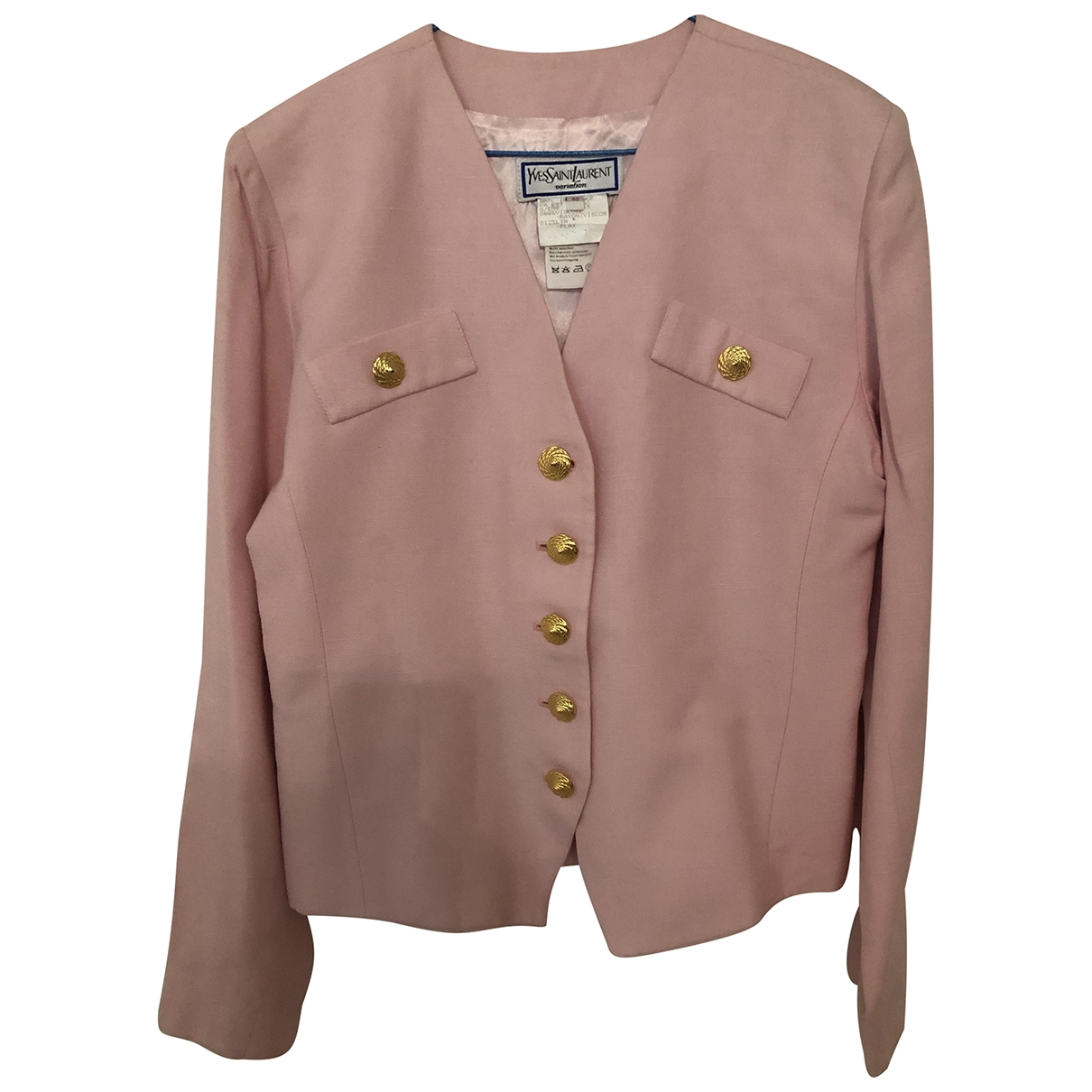 Yves Saint Laurent \N Pink jacket for Women 40 FR