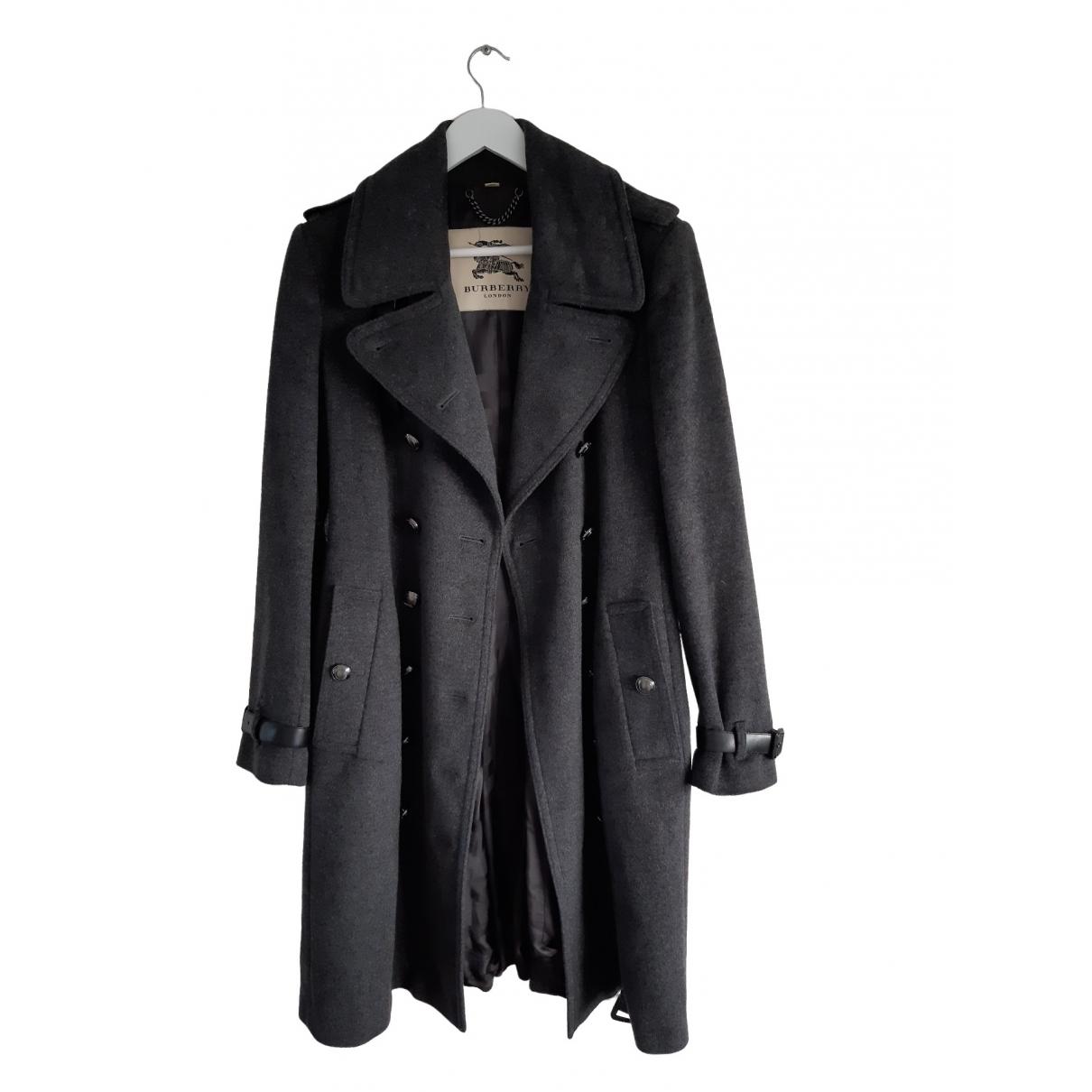 Burberry \N Grey Cotton coat for Women 16 UK