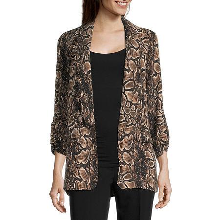 Worthington Womens Regular Fit Blazer, Petite X-small , Brown