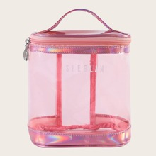 1 Stueck Transparente Make-up Tasche