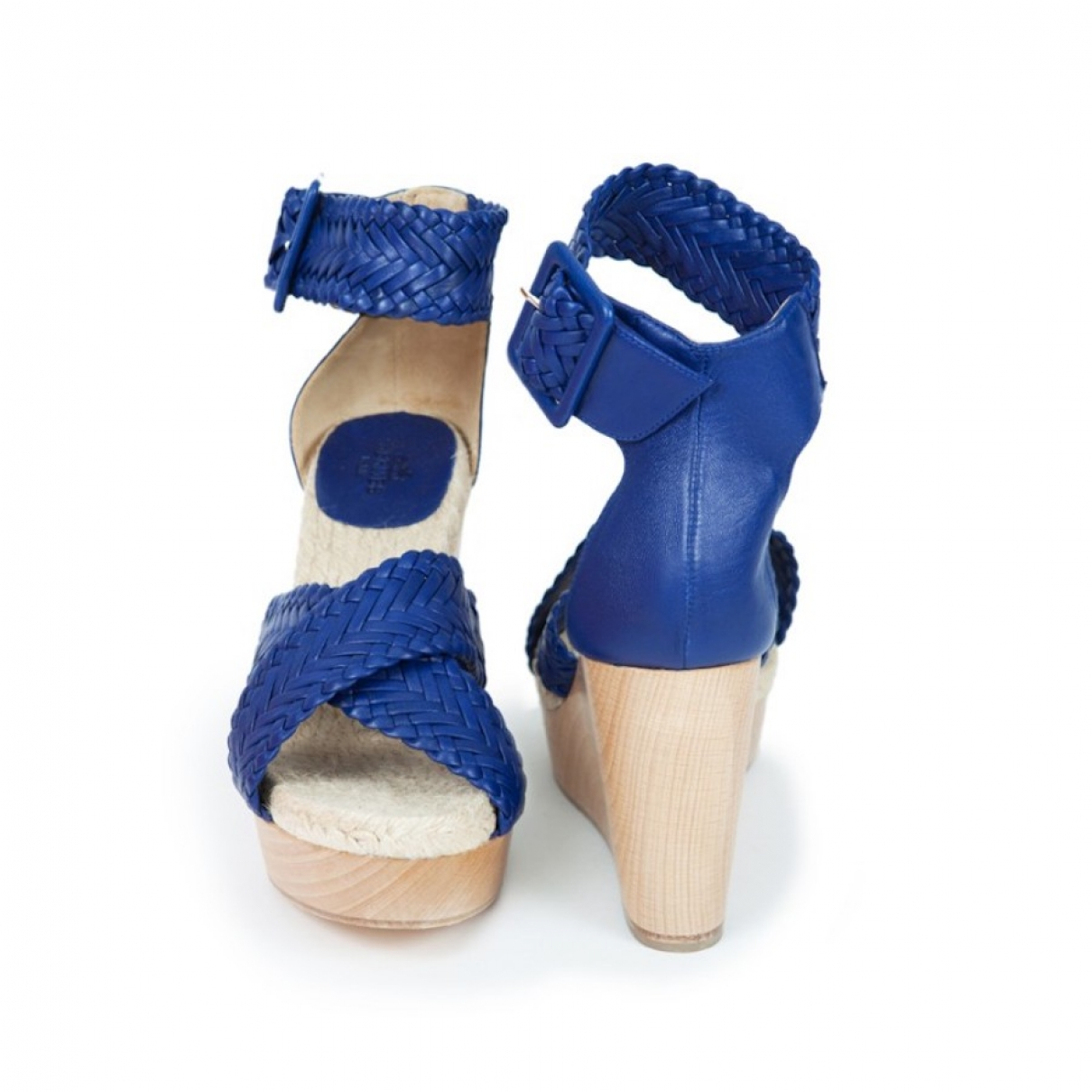 Hermes \N Sandalen in  Blau Leder