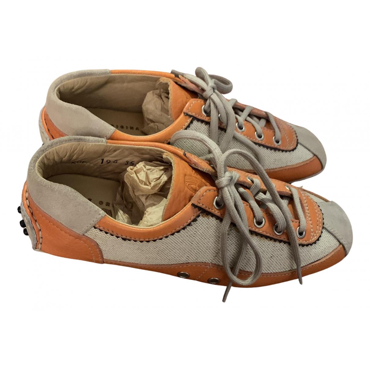 Carshoe N Orange Leather Trainers for Women 35 EU