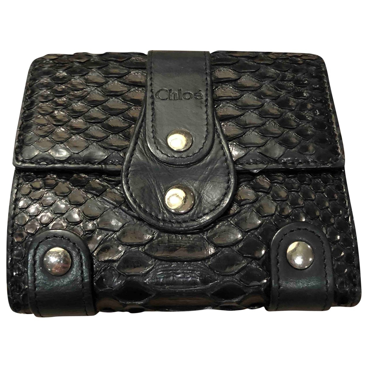 Chloé \N Black Python wallet for Women \N