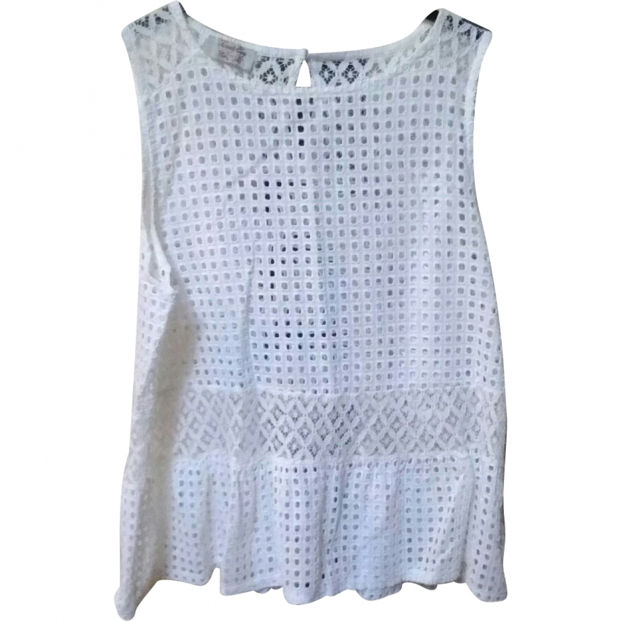 Non Signé / Unsigned \N White Lace  top for Women 46 IT