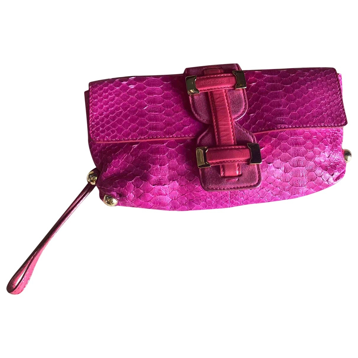 Roberto Cavalli \N Red Python Clutch bag for Women \N