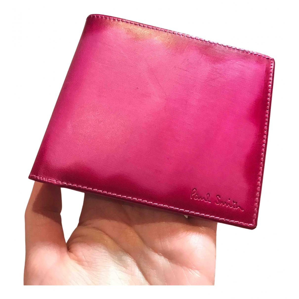 Paul Smith - Petite maroquinerie   pour homme en cuir - rose
