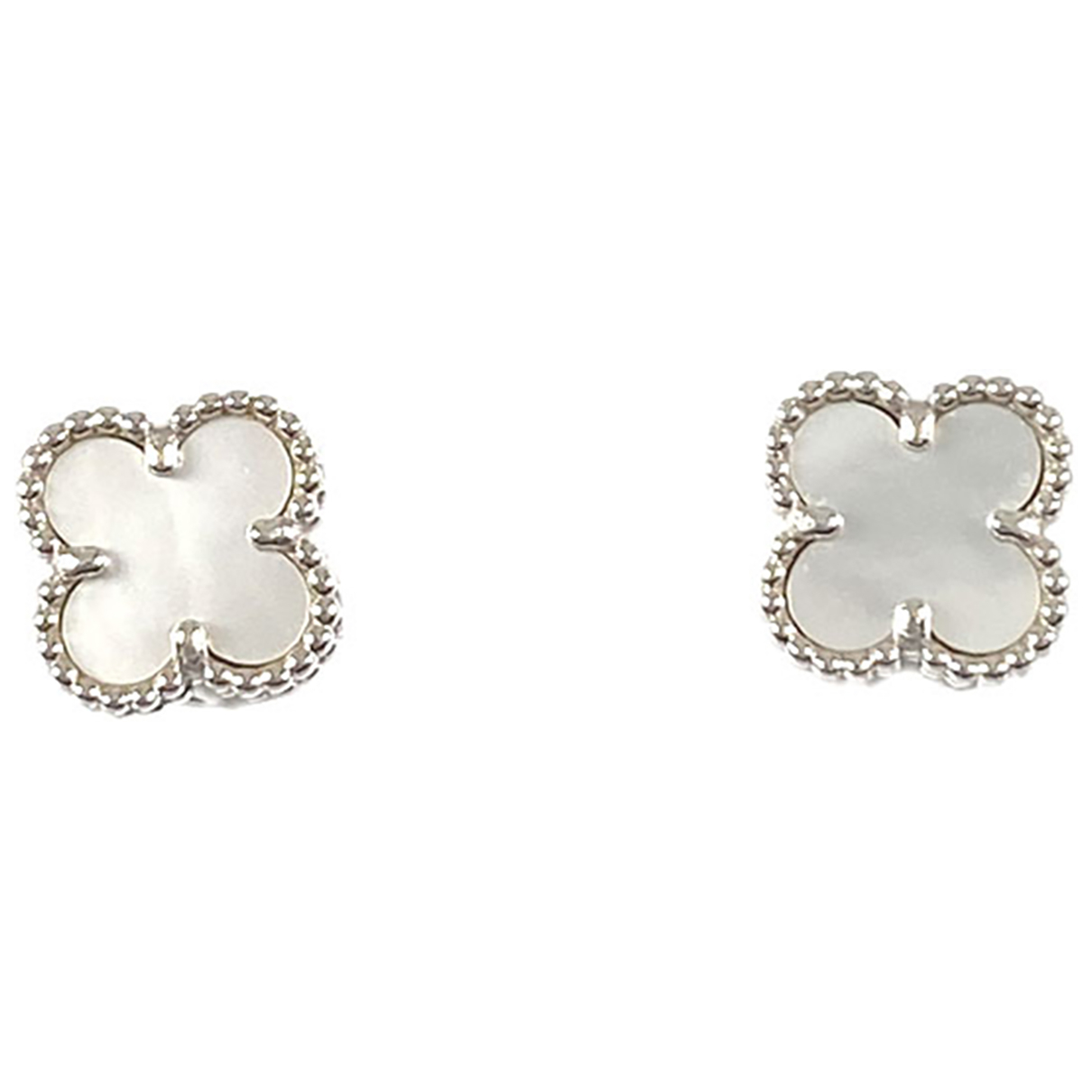Van Cleef & Arpels Sweet Alhambra White White gold Earrings for Women \N